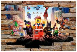 Lego Movie 3D Rock Stone View Wall View Decal Graphic WALL S