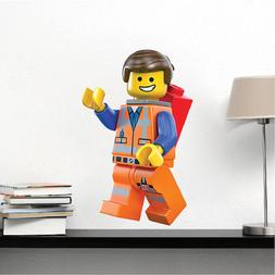 Lego Movie Emmet Wall Decal, Kids Movie Wall Mural, Lego Toy