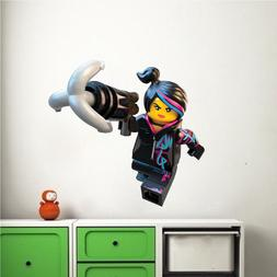 Lego Movie Lucy Wall Decal, Kids Movie Wall Mural, Lego Toy