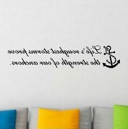 Life's Roughest Storm Beach Inspirational Wall Decal Removab