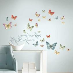 RoomMates Lisa Audit Butterfly Quote Peel And Stick Wall Dec