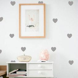 Little Hearts Wall Stickers Removable Home Decoration Wallpa