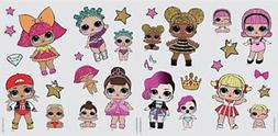 LOL SURPRISE! wall stickers 29 surpise girls decals LIL SIST