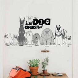 Lovely dog is a friend wall stickers home decor animal wall