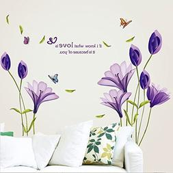 lovely lily flowers wall decals