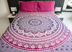 Bohemian Mandala Tapestry Bedding with Pillow Covers, Indian