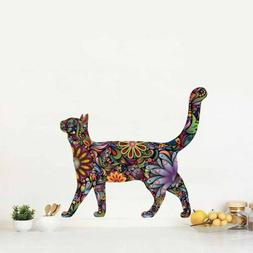 Walking Pet Cat Wall Decals Living Room Vinyl Wall Stickers