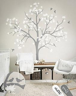 N.SunForest Large Maple Tree Wall Decals Nursery Decor Fores
