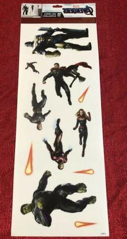 Marvel Avengers Endgame Wall Decals Stickers Captain Marvel