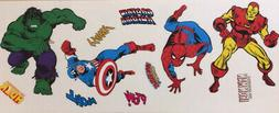 MARVEL SUPERHERO and names wall stickers 11 decals Spiderman