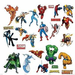 Marvel Superheroes Avengers Wall Decal Spider-man Captain Am