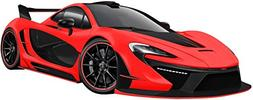 "12"" Mclaren P1 Red Wall Decal Sticker Hybrid Sports Race Car"