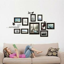 Memories Black Photo Frame DIY Wall Stickers Removable Wall