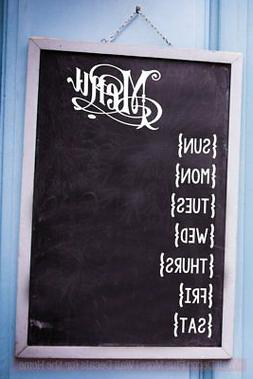 Menu Planner DIY Chalkboard Whiteboard Kitchen Wall Art Deco