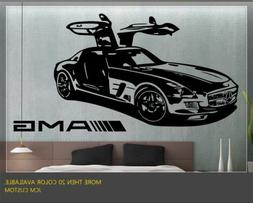 "Mercedes-benz SLS AMG Sport Car Wall Decal / 36"" X 22"""