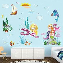 Mermaid Princess Wall Dcor Decals Underwater World Stickers