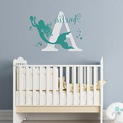 BATTOO Mermaid wall decal - Nursery Wall Art - Custom Wall A