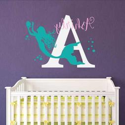Mermaid Wall Decals Custom Girl Personalized Name Home Vinyl