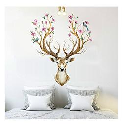 BIBITIME Merry Christmas Booming Flower Antlers Sika Deer Wa