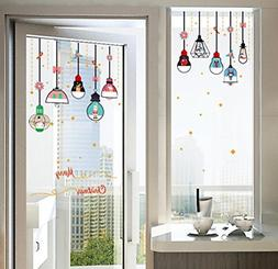 BIBITIME Merry Christmas Vinyl Hanging Lamp Wall Stickers Cr