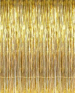 metallic gold foil fringe