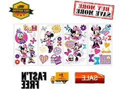 Mickey and Friends Minnie Bow-Tique Peel-and-Stick Wall Deca