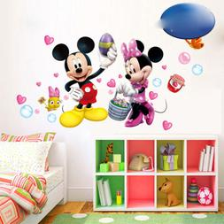 Mickey And Minnie Mouse PVC Mural Wall Sticker Decals Kids N