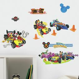 MICKEY AND THE ROADSTER RACERS WALL DECALS Pluto Goofy Race