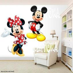 Mickey Mouse and Minnie Mouse Room Decor -  Wall Decal Remov
