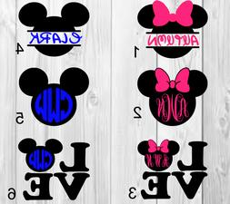 mickey mouse minnie mouse personalized name vinyl