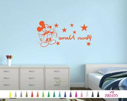 mickey mouse personalized custom name boy nursery