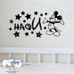 Mickey Mouse Personalized Name Custom Wall Decal Vinyl Stick