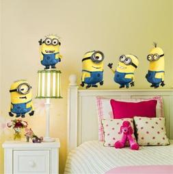 Minions Despicable wall stickers for kids room home decorati
