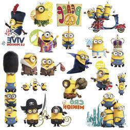 MINIONS MOVIE 16 BiG Wall Decals Despicable Me Room Decor St