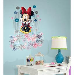 RoomMates Minnie Floral Peel & Stick Giant Wall Graphic