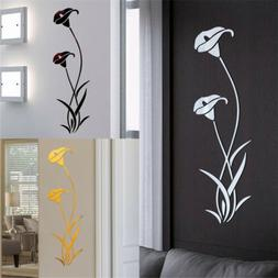 Mirror Decal Art Mural Wall Stickers Home Room DIY Decor Dec