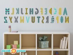 Modern Alphabet Fabric Wall Decals - 4 Color Options