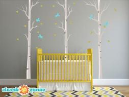 Modern Birch Trees Fabric Wall Decals