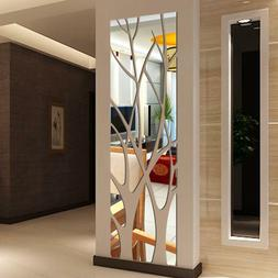 Modern Mirror Style Removable Decal Tree Art Mural Wall Stic
