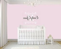 Monogram Name Decal, Wall Decal for Baby Girl, Wall Sticker,