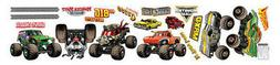 MONSTER JAM trucks wall stickers 19 decals room decor GRAVE