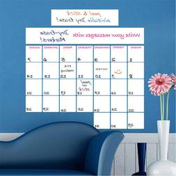 Monthly Dry Erase Calendar Notes Removable White Board Writa