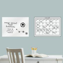 Monthly Whiteboard Dry Erase Calendar And Message Board Wall