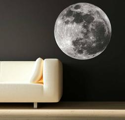 Moon Wall Art Sticker Decals Moon Science Astronomy Space Un