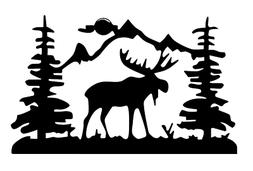 Moose Scenery Decal, Decal Sticker Outdoors Adventure DECALS
