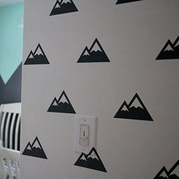 YOYOYU ART HOME DECOR Mountain Patterned Triangles Wall Stic