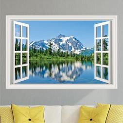 Mountains Lake #2 Scenery Wall Decal Sticker Graphic Art Mur