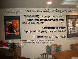 Movie Quotes wall lettering  decals for theater room  art de