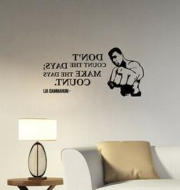 muhammad ali quote wall decal sports box