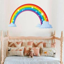 multicoloured rainbow wall sticker kids bedroom nursery